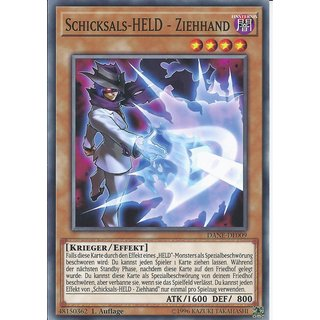 Yu-Gi-Oh! - DANE-DE009 - Schicksals-Held ? Ziehhand - Deutsch - 1.Auflage - Common