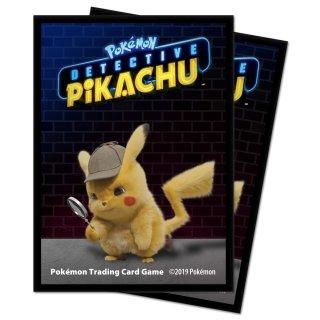 65x Pokemon Detective Pikachu Card Sleeves / Karten Hüllen Pikachu Neu/OVP
