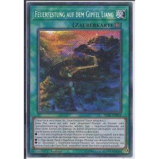 Yu-Gi-Oh! - FIGA-DE018 - Feuerfestung auf dem Gipfel Liang - 1.Auflage - DE - Secret Rare