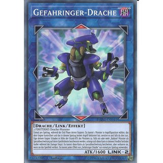 Yu-Gi-Oh! - DANE-DE041 - Gefahringer-Drache - Deutsch - 1.Auflage - Common