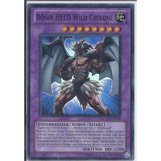 Yu-Gi-Oh! - LCGX-DE070 - Böser HELD Wild Cyclone - Unlimitiert - DE - Super Rare
