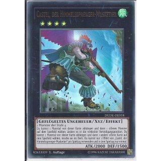 Yu-Gi-Oh! - DUDE-DE018 - Castel, der Himmelssprenger-Musketier - 1.Auflage - DE - Ultra Rare