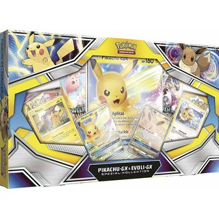 Pokemon Spezial Kollektion Pikachu-GX & Evoli-GX Deutsch NEU / OVP