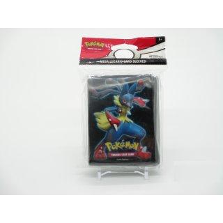 65x Pokemon Mega Lucario Card Sleeves / Karten Hüllen Neu/OVP