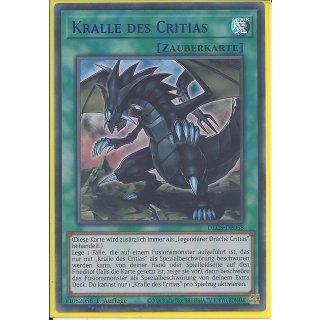 DLCS-DE058 Kralle des Critias Blau 1.Auflage Colorful Ultra Rare Yu-Gi-Oh
