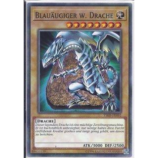 Yu-Gi-Oh! - YSKR-DE001 - Blauäugiger W. Drache - Unlimitiert - DE - Common